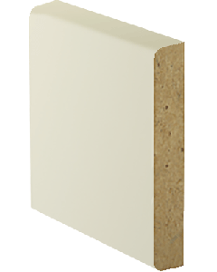 3/4  x 3 1/2 - MDF Flat Board Primed - 8FT